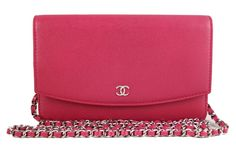 Chanel WOC 2013 Pink Sevruga Wallet on Chain 2.55 Clutch Sling Bag - Rare