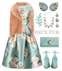 """""""Faux Fur PV Contest"""" by maison-de-forgeron ❤ liked on Polyvore featuring Opening Ceremony, Valentino, Mossimo Supply Co., Peter Pilotto and fauxfurcoats"""