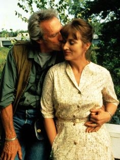 The Bridges of Madison County-A lonely housewife (Meryl Streep) has a passionate four-day affair with a National Geographic photographer (Clint Eastwood) in town to photograph those titular bridges. Beau Film, Clint Eastwood Meryl Streep, Movies Quotes, Karel Gott, Films Cinema, Fritz Lang, I Love Cinema, Madison County, Movie Couples
