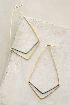 Chevron Hoops - anthropologie.com