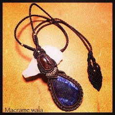 """オーダーネックレス。見る度に私が欲しくなる。そのくらいお気に入り。#macrame #stone #handmade #lapislazuli"" Photo taken by @macrame_wala on Instagram, pinned via the InstaPin iOS App! http://www.instapinapp.com (03/17/2014)"
