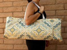 PRIMROSE Handmade Yoga or Pilates Tote Gym by ChellaBellaDesigns