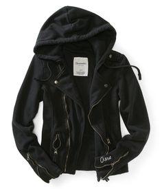 Fleece Moto Jacket - Aeropostale