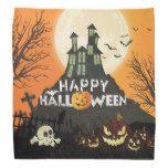 Spooky Haunted House Costume Night Sky Halloween Bandana #halloween #happyhalloween #halloweenparty #halloweenmakeup #halloweencostume