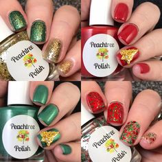Happy Holidays!Celebrate this joyous time of year with sparkling nails! (4) 15ml bottles for $28.00set includes: Silver Bells/Gold Balls, Poinsettia, Southern Pine, and GarlandOR ...