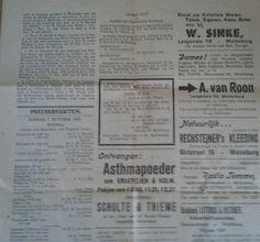 Bovenaan in het midden, aankondiging met hun voorgenomen huwelijk van mijn ouders, in de kerkbode 5-10-45 te Middelburg