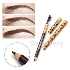 $2.64 2in1 Double-end Eyebrow Pen Pencil Eyeliner Waterproof Smudge Proof Long Lasting - BornPrettyStore.com