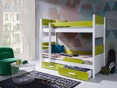 Łóżko piętrowe Lazaro 2 osobowe do pokoju młodzieżowego - BED - sklep meblowy Meble BIK