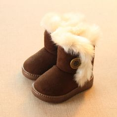 Add  Wool  Warm  Snow  Boots  For  Children  Non-slip Flat  Round  Toe  Girls  Baby  Lovely  Boots  2016  New  Winter  4  Colors