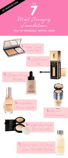 The 7 Most Amazing Foundations You've Probably Never Tried