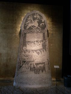 Picture stone from the Viking age. Gotland Museum, Sweden.