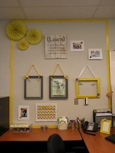 Some chic, classy DIY ideas for the classroom. Yellow and gray galore! Chic Classroom Style