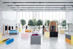 world basics: pop up furniture exhibition by schemata architects