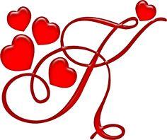 Alfabeto rojo con corazones. | Oh my Alfabetos!