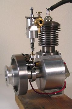Shop Built 4 Cycle Gasoline Engine - Approx high overall V Engine, Small Engine, Steam Engine, Home Shop Machinist, Gas Powered Bicycle, Stirling Engine, Combustion Engine, Motorcycle Engine, Gasoline Engine