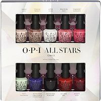 Shop the Gift: OPI All Stars Mini 10 Pack This set includes our top ten best selling lacquer shades. It's perfect for the nail polish lover on your list. Great way to try a bunch of shades, or round out a collection of OPI!