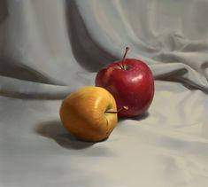 Still life with apples, Sergey Samarskiy on ArtStation at https://www.artstation.com/artwork/gOk4m