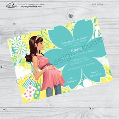 Baby Shower Flower Mother-to-Be Collection  by ChiquisDesignStudio
