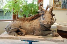 'Warthog' 28cm x 50cm x 25cm £1600 by Nick Mackman. For more stunning wildlife sculpture, visit www.lyndhurstgallery.co.uk