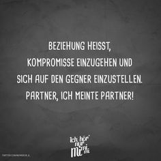 Relationship means compromising and adapting to the opponent. Partner, I meant partner! - VISUAL STATEMENTS® - Relationship means compromising and adapting to the opponent. Partner, I meant partner! Super Funny Quotes, Funny Quotes For Teens, Funny Quotes About Life, Funny Sayings, Funny Jokes To Tell, Funny Puns, Relationship Meaning, Relationship Quotes, Funny Quotes For Instagram