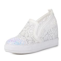 Women's Sneakers Spring Summer Fall Club Shoes Synthetic Tulle Office & Career Party & Evening Dress Platform Sequin 5677675 2017 – $45.75