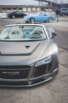 Audi PPI Razor GTR R8. Nah the MGA in the background. #CarPorn Lover? Visit Us at www.rvinyl.com #Rvinyl and see what we can do for you!