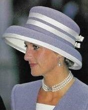 October 8, 1993: Princess Diana at the wedding of Princess Margaret's son, Viscount David Linley to Miss Serena Stanhope at St. Margaret's Church in London.
