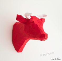 Eigentlich sollte ich Osterdeko gestalten. Aber ich habe irgendwie keine Lust :) Ich bin momentan zu sehr mit Häkeln und Papierfalten beschäftigt. Die Vorlage zu dieser Kuh gibt es hier: blog.kreativbuehne.de