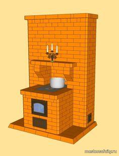 Отопительно варочные печи- Чертежи печей и каминов
