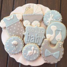 Baby Shower Cookie Cutters, Baby Shower Cookies, Baby Shower Fun, Baby Shower Parties, Baby Shower Themes, Baby Shower Decorations, Fancy Cookies, Royal Icing Cookies, Sugar Cookies