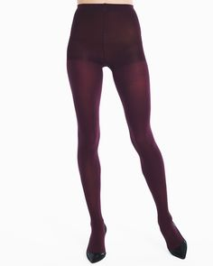 Cabernet Opaque Tights