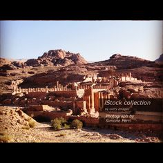 Middle East, Petra Jordan Wadi Rum desert - Stock image Nature, Horizontal, Outdoors, Jordan - Middle East, Summer  http://www.istockphoto.com/photo/middle-east-petra-jordan-wadi-rum-desert-gm540571468-96544847  #Petra #ruins #wadirum #desert #Horizontal #color #rock #Jordan #MiddleEast #Colors #Red
