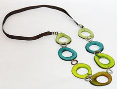Galaxy tagua necklace by TagangaLLC on Etsy, $37.00