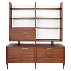 Rare Gio Ponti Display Cabinet Model 4120 for Singer & Sons