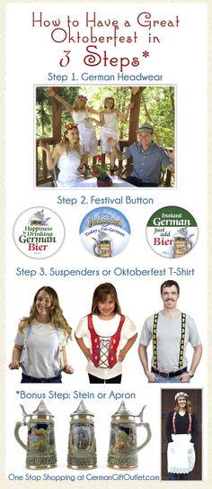 Oktoberfest Costume. Simple, Quick, and Fun! #Oktoberfest #German . 3 Steps to a Great Oktoberfest