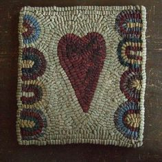 Heart Mat - Love!----I have made one >>