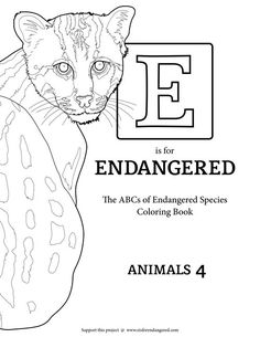 **NEW** E is for Endangered $1 Collection. Includeds: Dhole, Fishing Cat, Galapagos Tortoise, Ganges River Dolphin, and Giant Otter. #eisforendangered Fishing Cat, Tortoises, Endangered Species, Catfish, Otters, Coloring Books, Homeschool, River, Creative