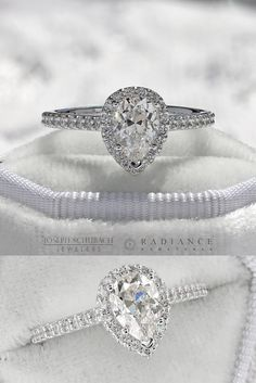 One of our recent custom design engagement rings, hot off the presses! Personalized Jewelry, Custom Jewelry, Diamond Solitaire Rings, Halo, Wedding Bands, Custom Design, Jewelry Design, Engagement Rings, Jewels