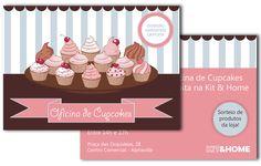 Panfleto-convite Oficina Cupcakes Kit & Home