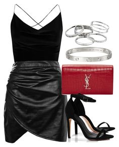 """Sin título #12336"" by vany-alvarado ❤ liked on Polyvore featuring Boohoo, Yves Saint Laurent, Cartier and Kendra Scott"