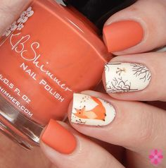 KBShimmer Winter 2015 For Fox Sake polish paired with Fox Decals