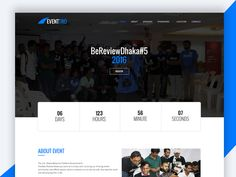 Eventtro  Meetup HTML Landing Page Design Free Download by RevolThemes
