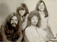 The Move in 1970: Roy Wood, Bev Bevan, Jeff Lynne, and Rick Price Electric light Orchestra before they became electric light Orchestra.