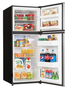 Danby Top Freezer Refrigerator with cu. Capacity Energy Star Qualified Mechanical Thermostat Interior Light and Reversible Door Hinge Apartment Size Refrigerator, Compact Refrigerator, Top Freezer Refrigerator, Tiny Spaces, Small Space, Fridge Decor, Kitchen Pantry Design, Kitchen Ideas
