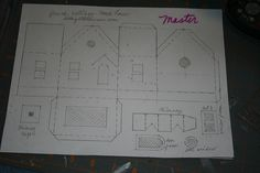 glitter house patterns | copy of the master pattern, I choose card stock for making the house ...