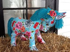 Blue Magic Plush Pony by Sillysockmonkeys on Etsy, $45.00
