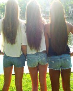 having long hair! <3