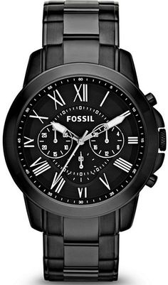 FS4832 - Authorized Fossil watch dealer - MENS Fossil GRANT, Fossil watch, Fossil watches