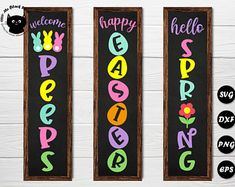 Happy Easter, Easter Bunny, Sunflower Template, Diy Porch, Porch Ideas, Paper Sunflowers, Porch Welcome Sign, Spring Sign, The Design Files