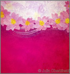colorful grunge pink magenta and violet background with fantasy pink and yellow flowers     http://www.tpt-fonts4teachers.blogspot.com/2013/01/san-valentines-day-free-clip-arts.html